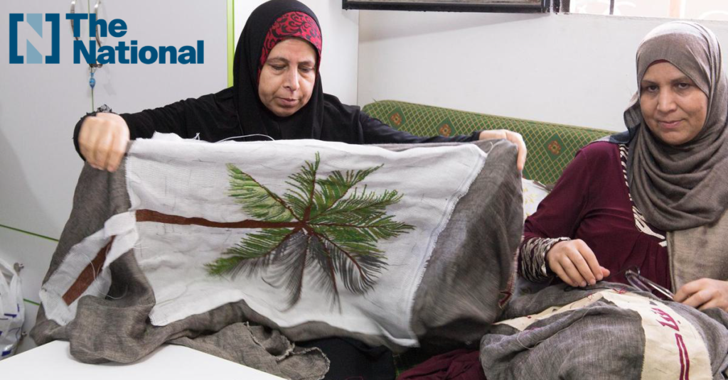 The National: The Palestinian women refugees using Arabian motifs and poetry to create art